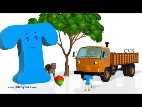 Phonics Song 4 - 3D Animation Nursery rhymes Phonics songs ABC songs for children