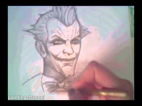 How to draw the Joker - Batman Arkham City