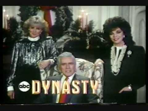Dynasty cast 1986 wishes you Happy Holidays ABC tv