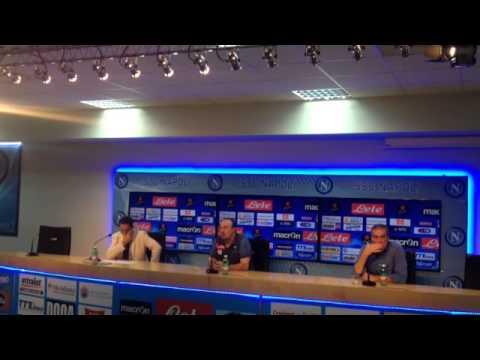 Napoleggiamo   conf  stampa Benitez pre Genoa   Napoli