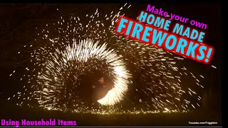 Home Made Fireworks - Science experiment - Burning Steel Wool!