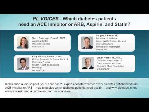PL VOICES - Which diabetes patients need an ACEI, ARB, aspirin, and statin?