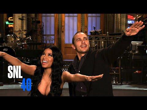 Snl Host James Franco And Musical Guest Nicki Minaj Salute Peter Pan Live video