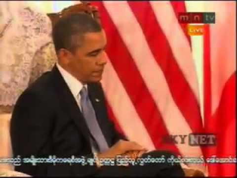 Obama and U Thein Sein meeting Nov 19 2012