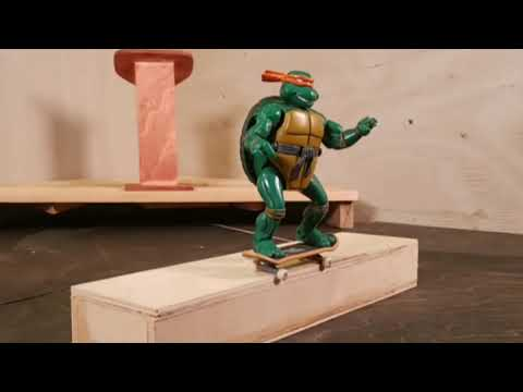 STOP MOTION NINJA TURTLE (SKATEBOARDING) TEST