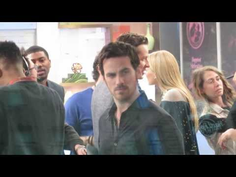 Once upon a time actor Colin o'Donoghue making funny faces to GMA audience in NYC