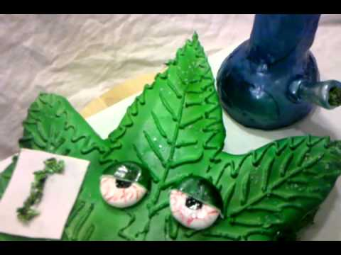 pot leaf cake youtube