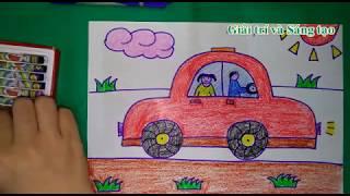 Vẽ ô tô -  Bố chở bé đi chơi [ Dạy bé yêu tập vẽ ]