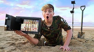 I Went Metal Detecting & Found $10,000 in Abandoned Safe... (Treasure Hunt Challenge)