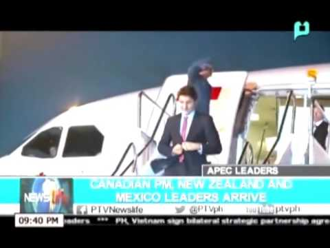 NewsLife: Canadian PM, New Zealand and Mexico leaders arrive || Nov. 17, 2015