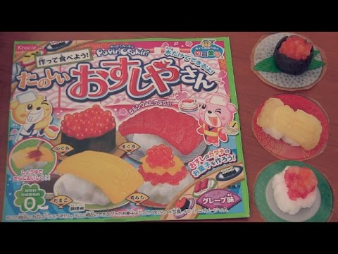 Sushi Candy Kit How To + Taste Test Kracie Popin Cookin