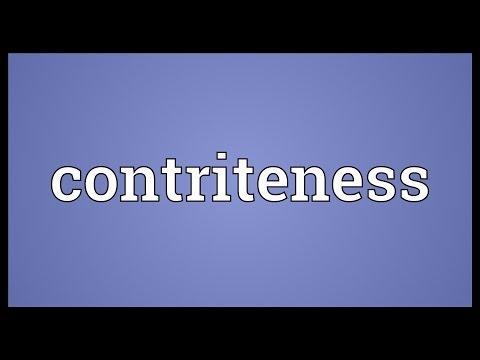 Header of contriteness