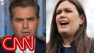 Jim Acosta calls out Sarah Sanders' 'spin' on Trump's executive time