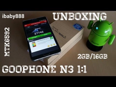 Goophone N3 MTK6592 Octacore 1:1 Note 3 Clone 2GB/16GB - Unboxing!