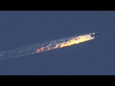 BREAKING VIDEO - Turkey shoots down RUSSIAN jet for violating air space - PILOTS CAPTURED