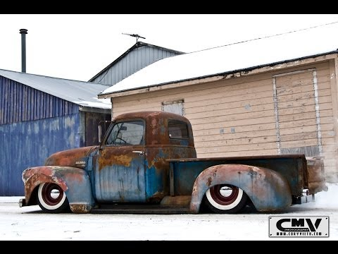 Bagged Chevy time lapse build air ride 53 stepside shortbed patina go pro how to