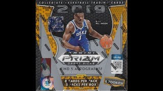 2019/20 Panini FOTL Prizm Draft Picks Basketball Hobby Box Break