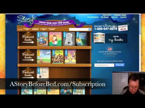 Children's online eBook video newsletter from A Story Before Bed - August 26, 2010