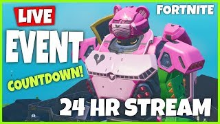 *NEW* LIVE FORTNITE ROBOT MONSTER EVENT COUNTDOWN TIMER - GIFTING MECHA SKIN (FORTNITE LIVE STREAM)