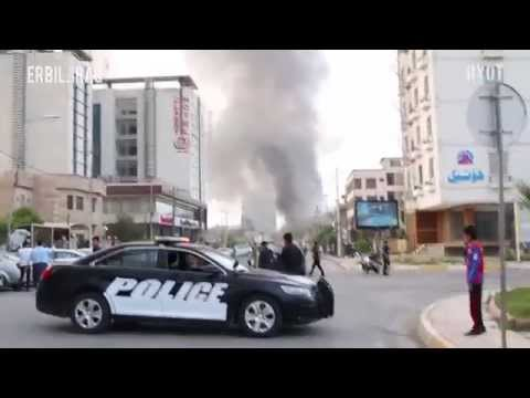 Car Bomb Explosion Caught on Tape in Erbil, Iraq