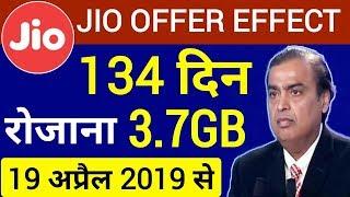 Jio Offer Effect : रोजाना 3.7GB DATA 134 दिनों के लिए | BSNL NEW OFFER Giving by Perday 3.7GB