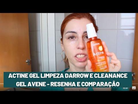 ACTINE gel limpeza Darrow e Cleanance Gel AVENE - resenha e comparação