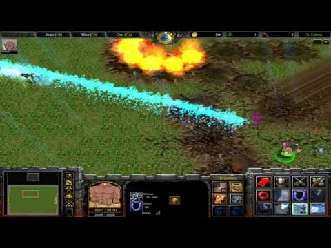 Warcraft III: TFT - Naruto Battle Royal v8.9 - 56 - Raikage vs Hanzo