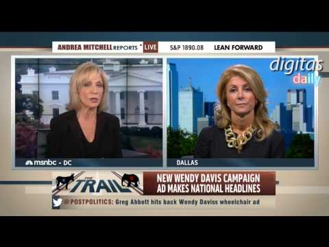 Andrea Mitchell Asks Wendy Davis About Greg Abbott's 'Supposed' Disability