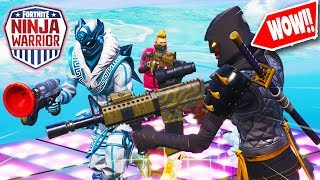 ULTIEME NINJA WARRIOR PARKOUR in Fortnite Creative ft. Gamemeneer & Djuncan (Nederlands)