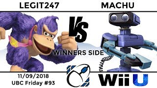 UBC Friday #93: WR2 - Legit247 (Donkey Kong, Diddy Kong) vs Machu (ROB)
