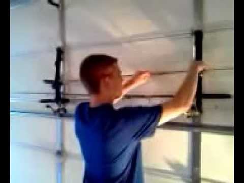 Loop hold flexible fishing rod youtube for Homemade fishing rod holders for garage
