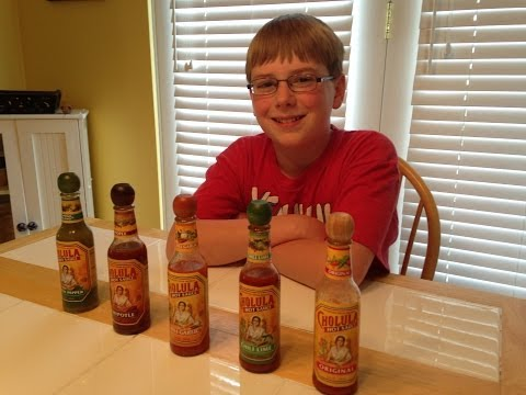 11-year-old eats all Cholula hot sauces : Hot Sauce Review. Crude Brothers