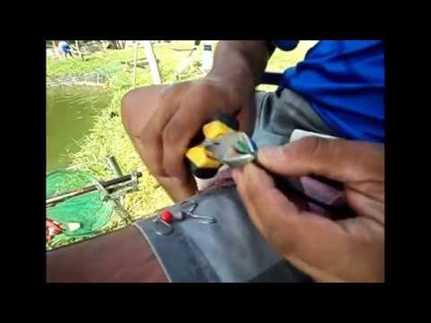 Pescando Tilápias em Atibaia - Aprenda a Confeccionar o Chicote para Batida