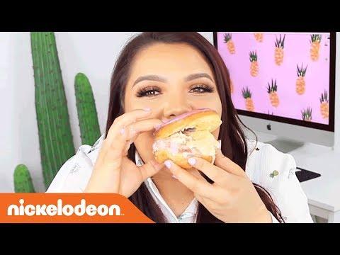 DIY Ice Cream Doughnut Sandwiches W/ Karina Garcia!   Nick