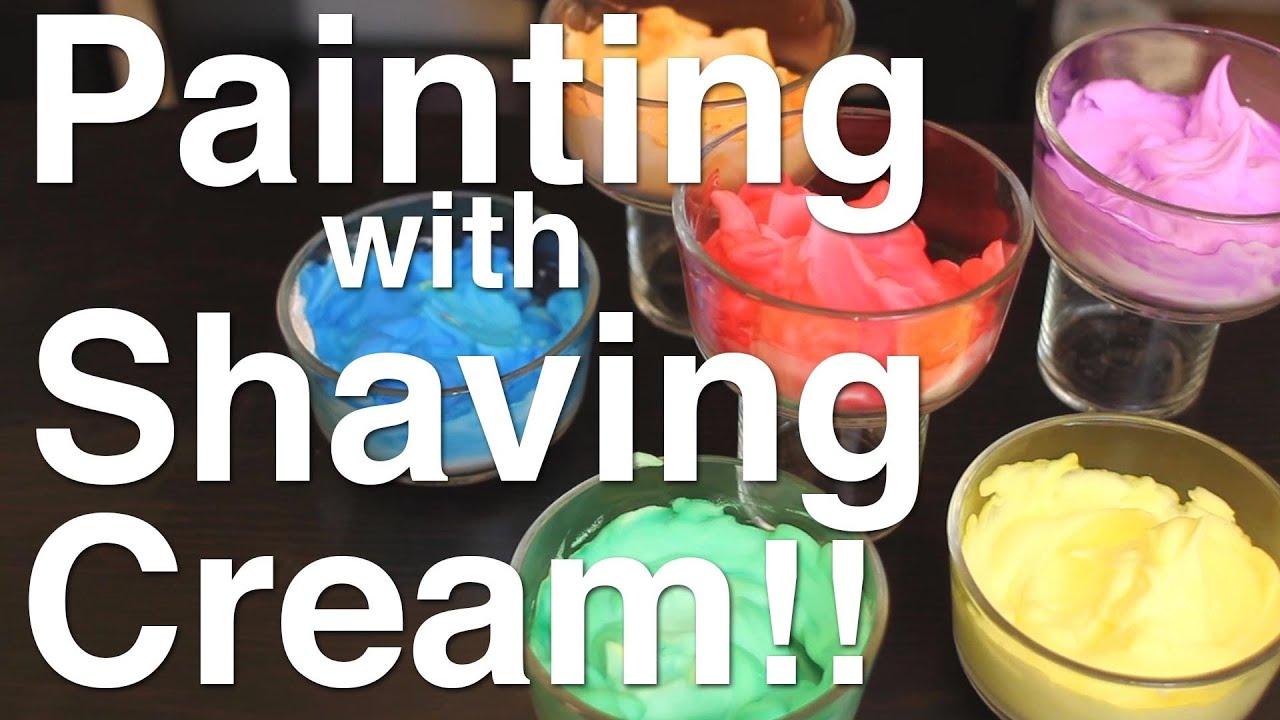 Paint with shaving cream youtube for Shaving cream paint
