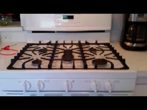 WARNING: Frigidaire Gallery 5 Burner Gas Range, Self-Cleaning Convection Oven