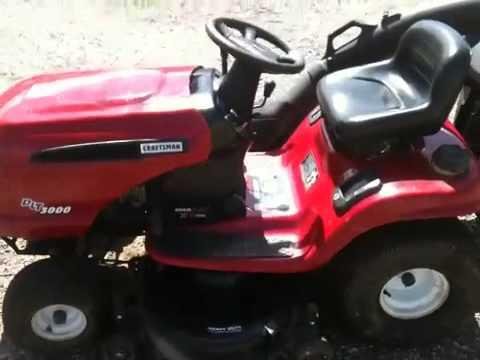 Craftsman Lt1000 Riding Mower >> 2003 Craftsman Riding Mower - YouTube