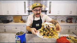 making guy fieri's trash can nachos