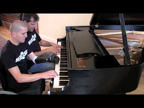 Somebody That I Used To Know - Cpl Todd Love & Arthur Bloom (musicorps) - Piano 4 Hands video