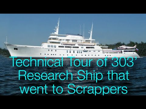 303' / 92-meter US Government Research Ship available for Yacht Conversion