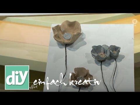 Blumenbild aus Knetbeton | DIY einfach kreativ