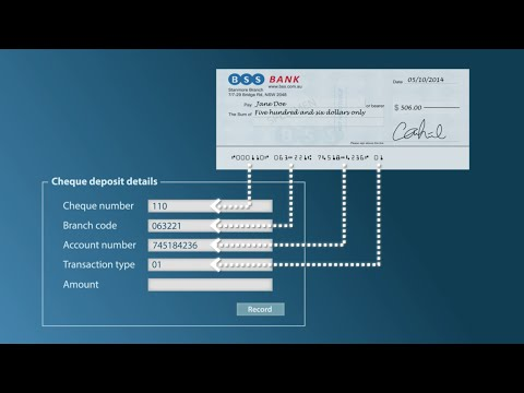 Teller Check / Cheque Deposit Solution (TCDS)