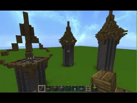 Minecraft Medieval Tower Roof Tips Guidelines Youtube