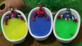 đồ chơi siêu nhân người nhện bồn tắm Spiderman Bathtime Toys 스파이더맨 목욕놀이 장난감