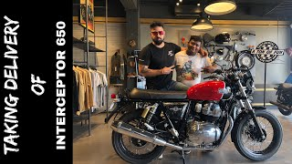 TAKING DELIVERY OF INTERCEPTOR 650 | ROYAL ENFIELD