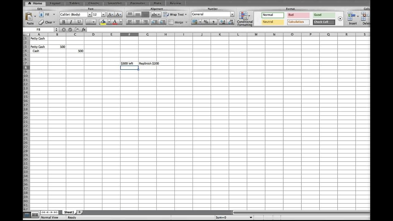Parkinson's UK Treasurer's petty cashbook template. 3. 4, To be ...