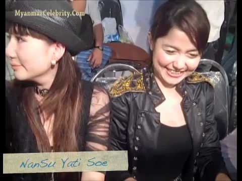 Myanmar Model, Nan Su Yati Soe With Body-Guard