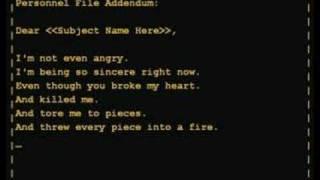 Thumb La canción Still Alive de GlaDOS en el Final de Portal