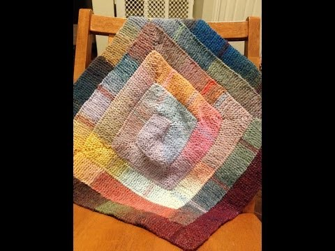 Ten Stitch Blanket for Loom Knitters - revisited