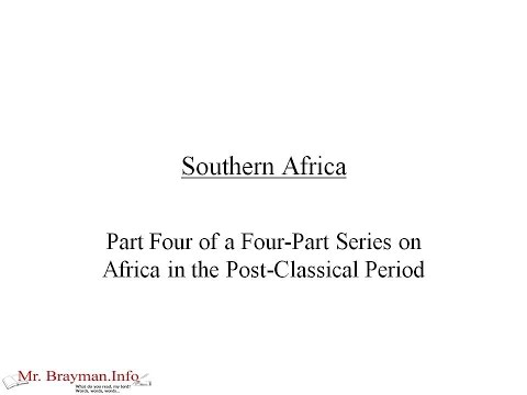 Southern Africa in the Post-Classical Period